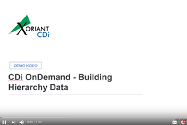 CDiOnDemand – Building Hierarchy Data